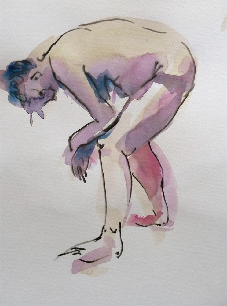"""Life Drawing 7"" original fine art by Nicoletta Baumeister"