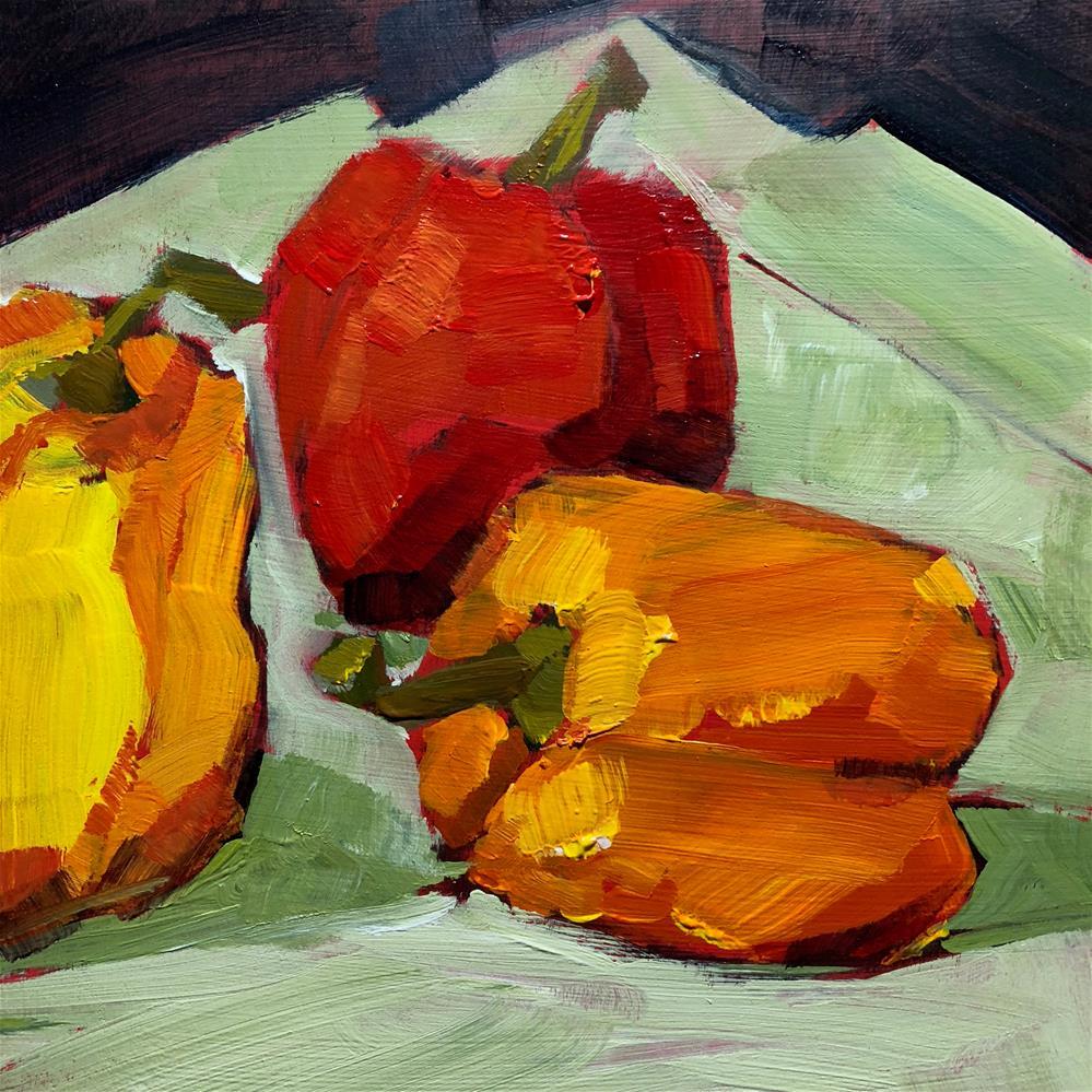 """0808: Peppers for Dinner, Please"" original fine art by Brian Miller"
