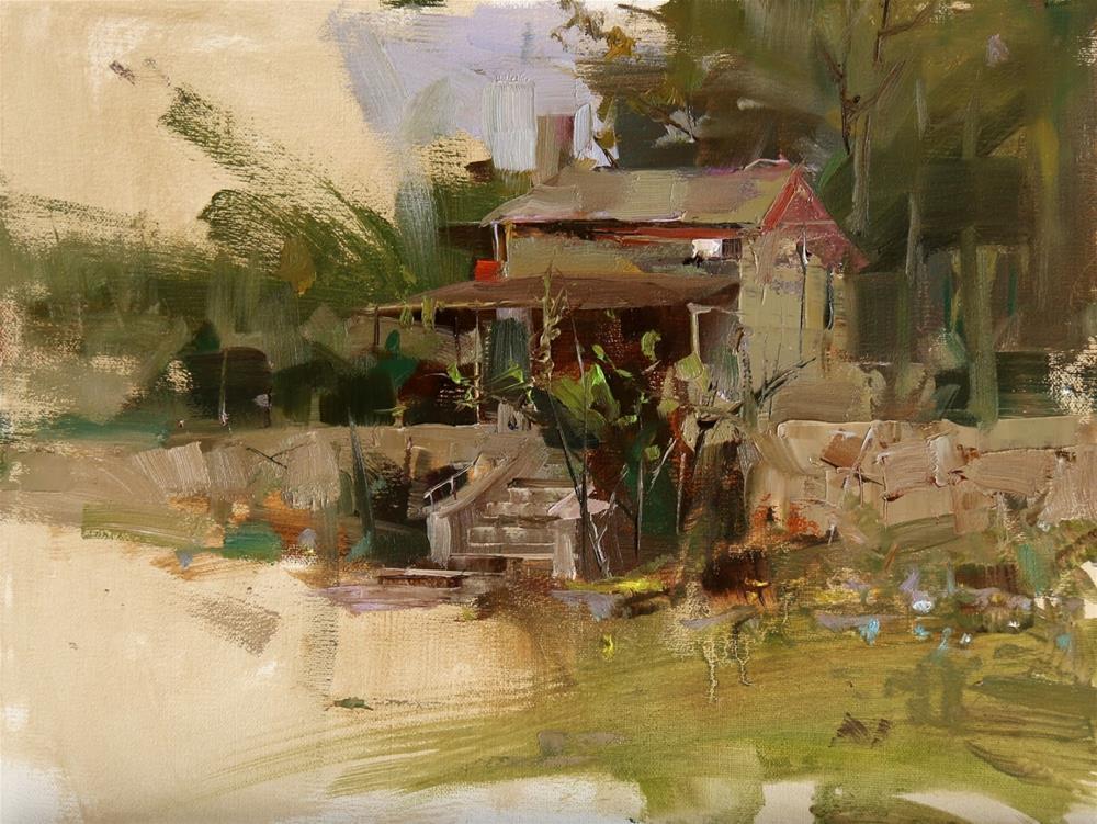 """Dies Ranch 2"" original fine art by Qiang Huang"