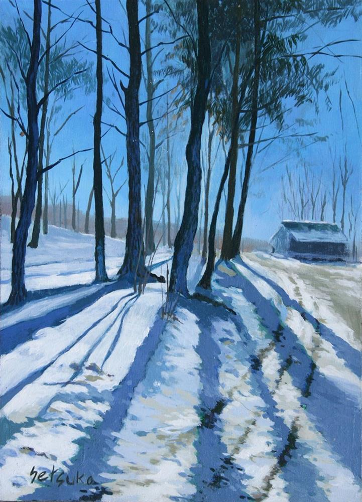 """Snow Mountains"" original fine art by Setsuko Lawson"