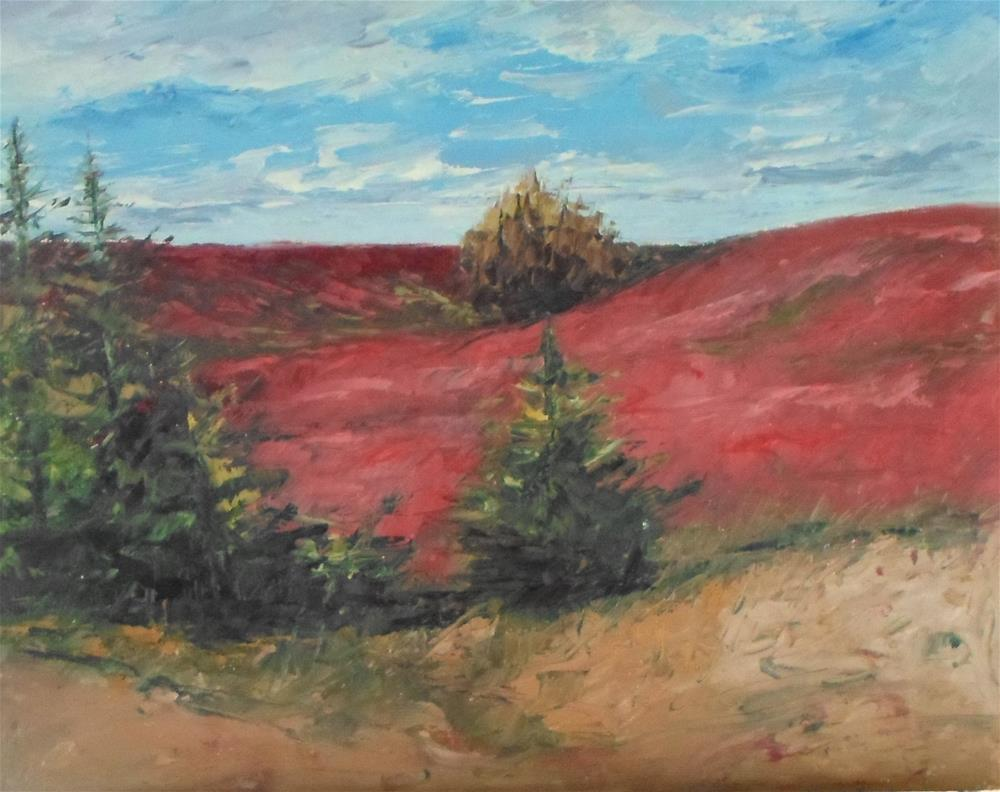 """8 x 10 inch N.S. Blueberry Fields"" original fine art by Linda Yurgensen"
