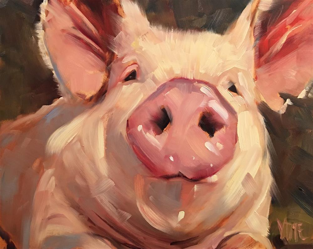"""""""#438 The Closer"""" original fine art by Patty Voje"""