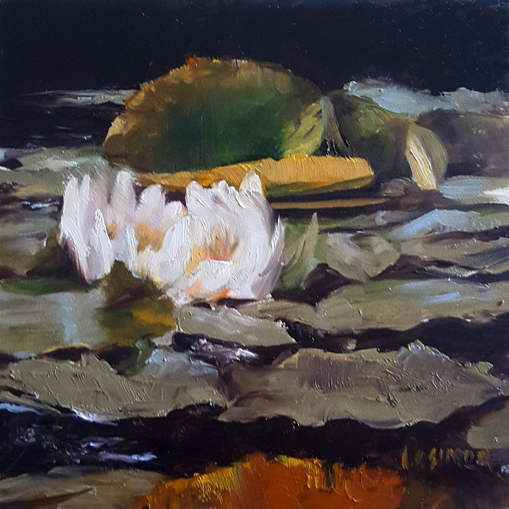 """Nymph of the Pond"" original fine art by A.K. Simon"