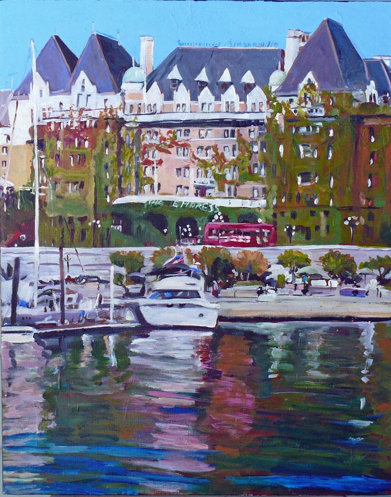 """The Empress, September, acrylic, 16x20"" original fine art by Darlene Young"