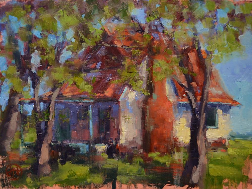 """the orchard house"" original fine art by Dottie  T  Leatherwood"