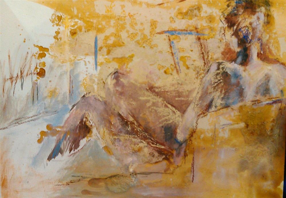 """""""The Lounger"""" original fine art by Ann Rudd"""