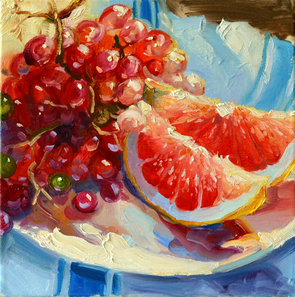 """""""GRAPEFRUIT"""" original fine art by Cecilia Rosslee"""