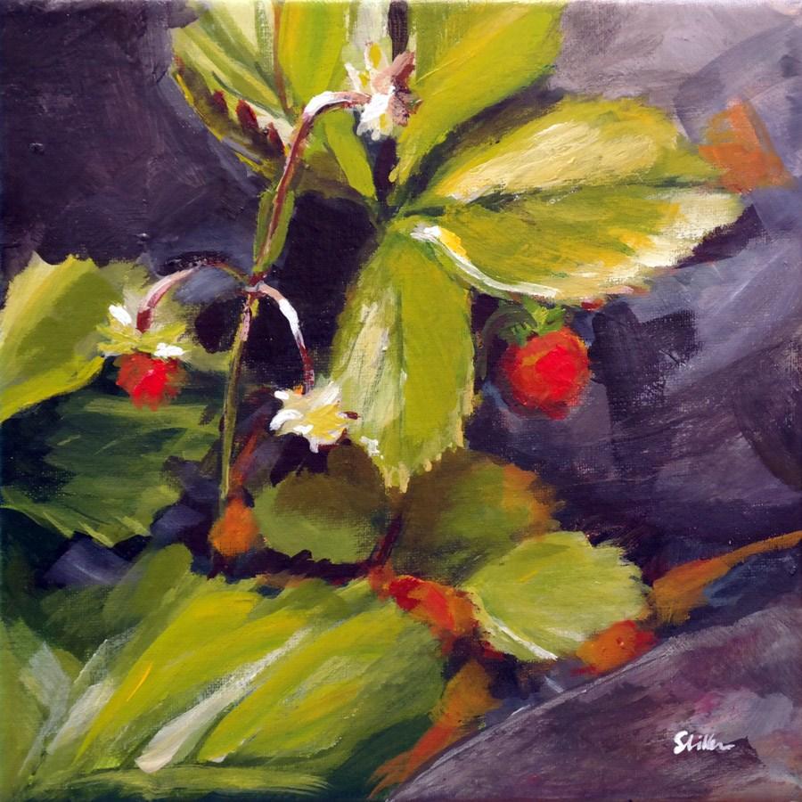 """""""1395 Wild Strawberries"""" original fine art by Dietmar Stiller"""