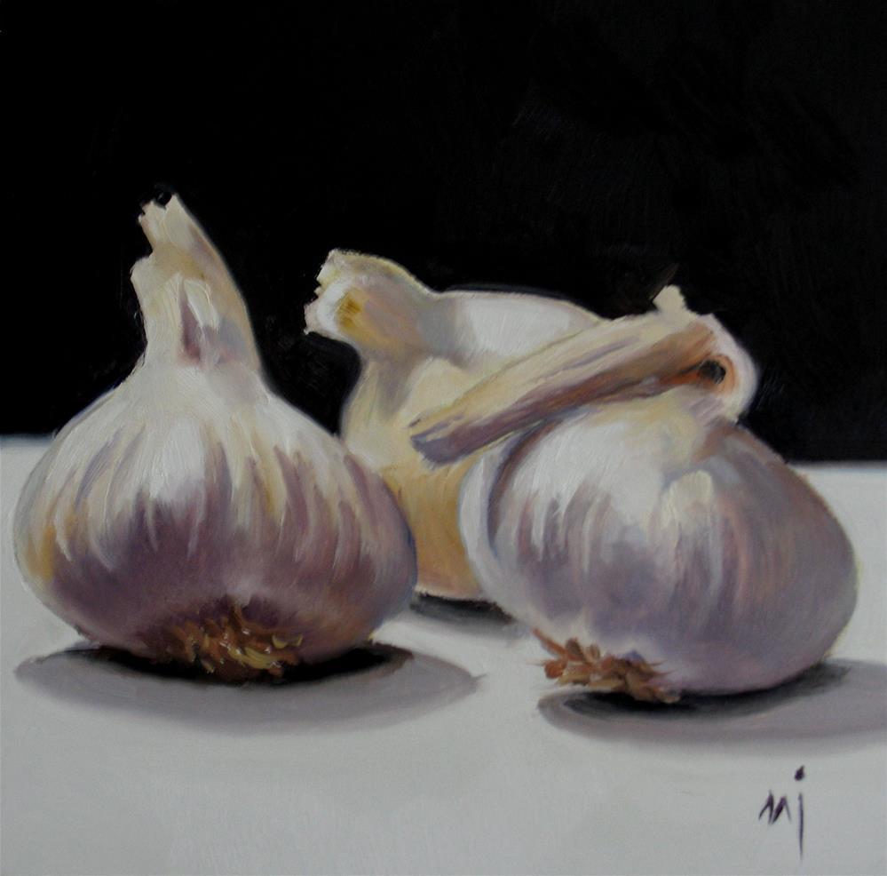 """""""Garlic Cloves"""" original fine art by Nel Jansen"""