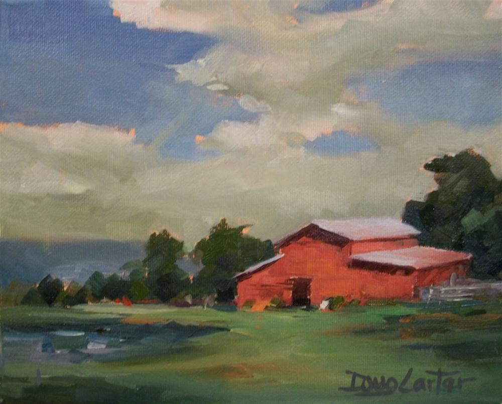 """Texas Barn Yard"" original fine art by Doug Carter"