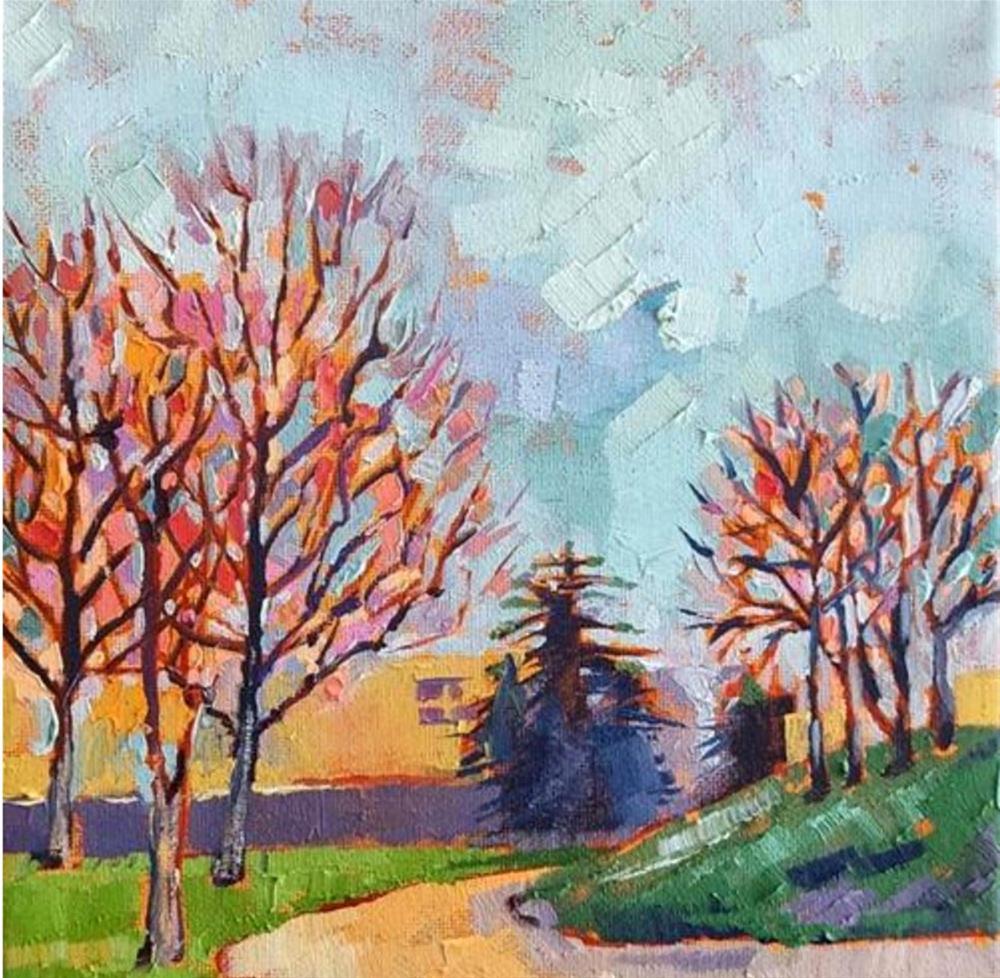 """Autumn Sky"" original fine art by Bhavna Misra"