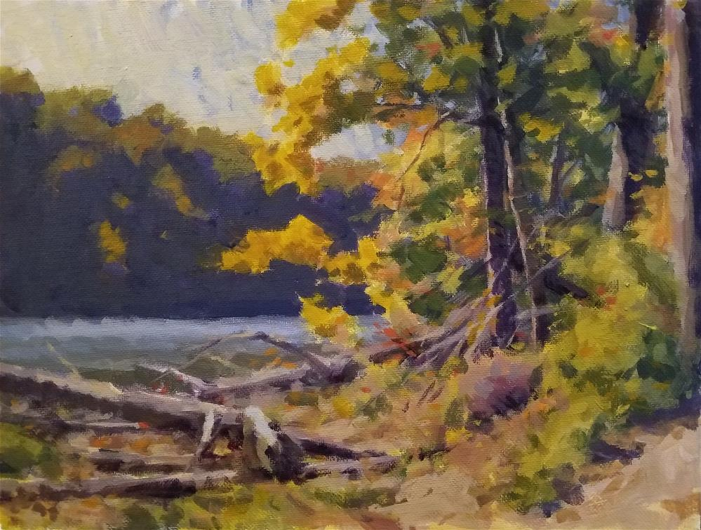 """October in Brown County"" original fine art by Roy Boswell"