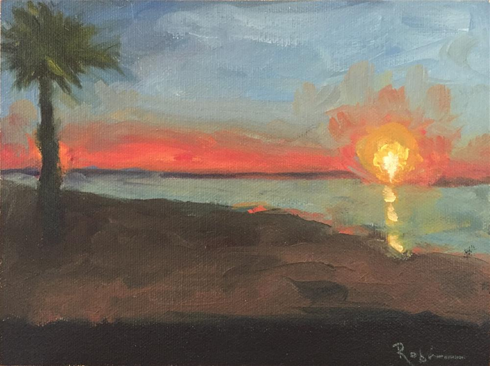 """Fort Lauderdale Sunrise"" original fine art by Renee Robison"