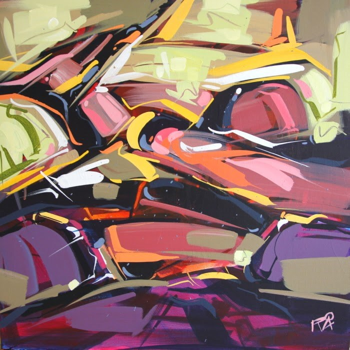"""""""Shapes & Movement 30"""" original fine art by Roger Akesson"""