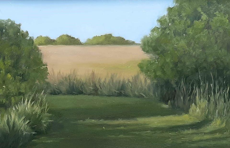 """""""Walk Through"""" original fine art by Karen Johnston"""