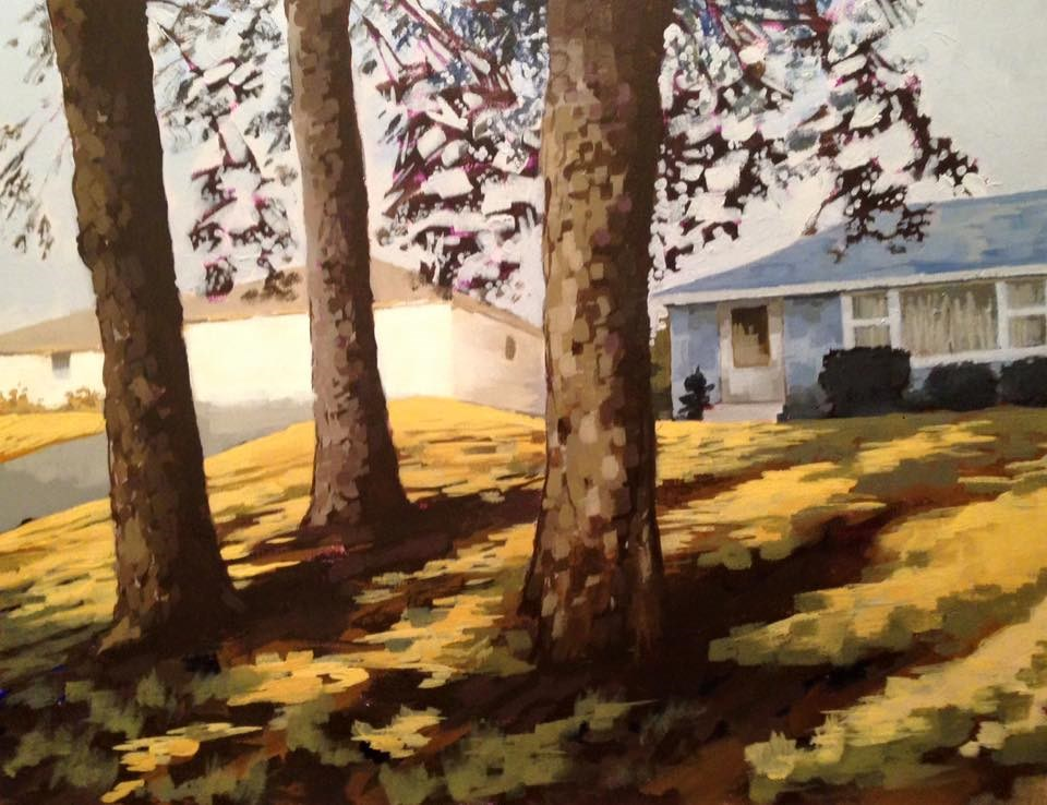 """Trees"" original fine art by Jim Musil"