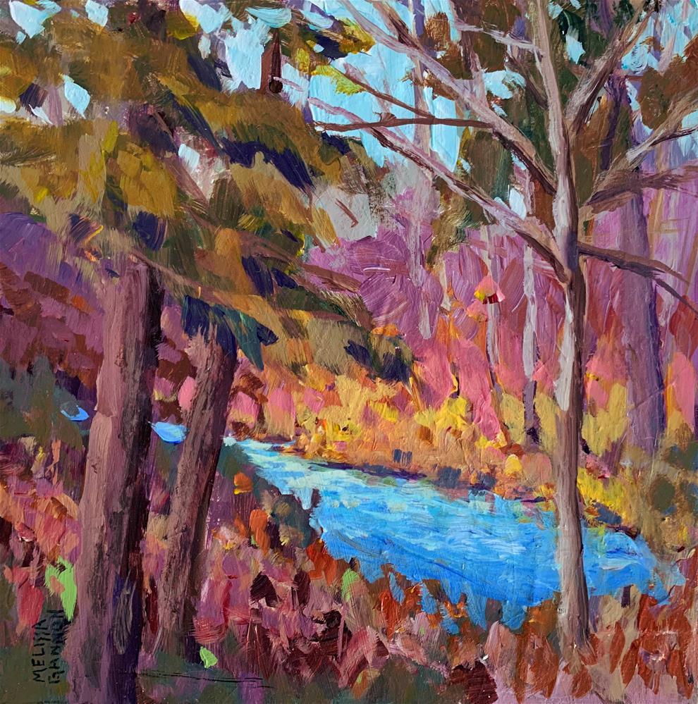 """Big Trees Along the River"" original fine art by Melissa Gannon"