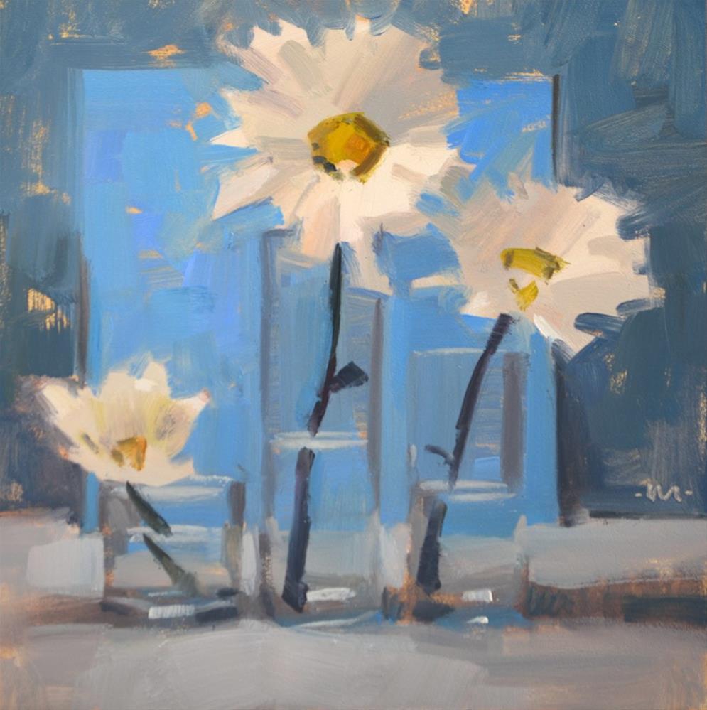 """Daisy Trio"" original fine art by Carol Marine"