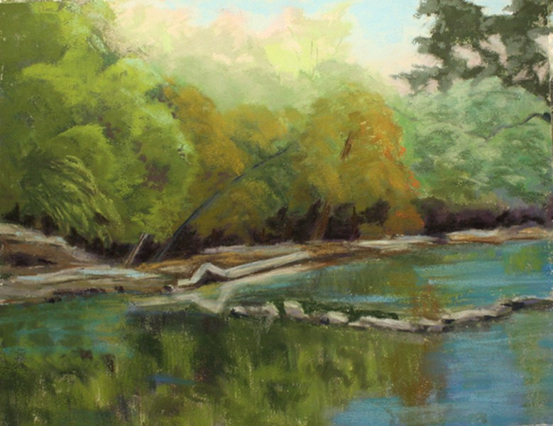"""Guadalupe River"" original fine art by Jane Frederick"