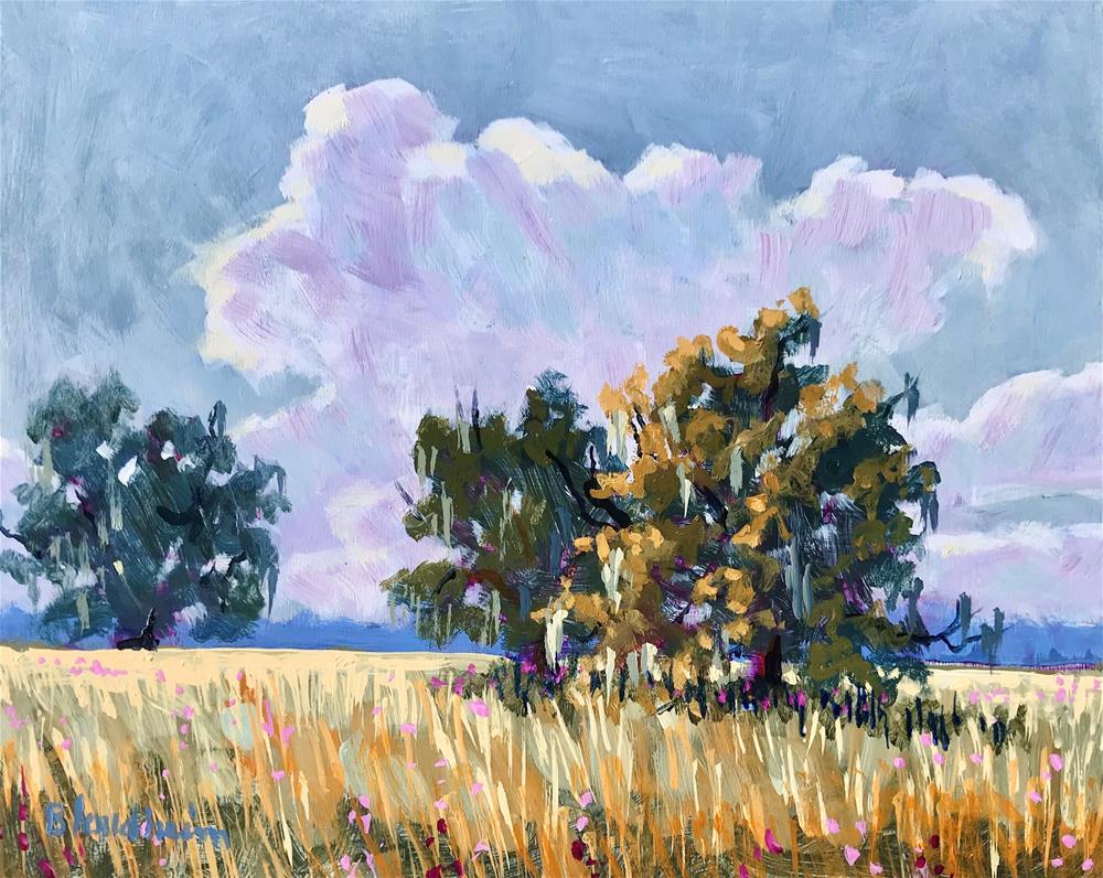 """""""Flower Field Spring"""" original fine art by Linda Blondheim"""