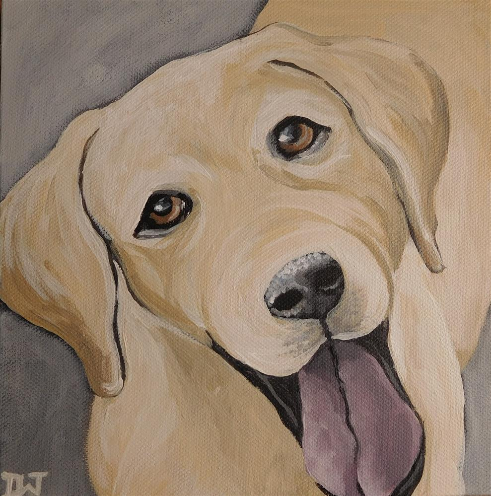 """Labrador"" original fine art by Daryl West"