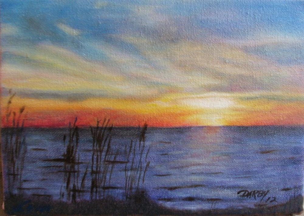"""""""Bayou Sunset"""" original fine art by Lynn Darby"""