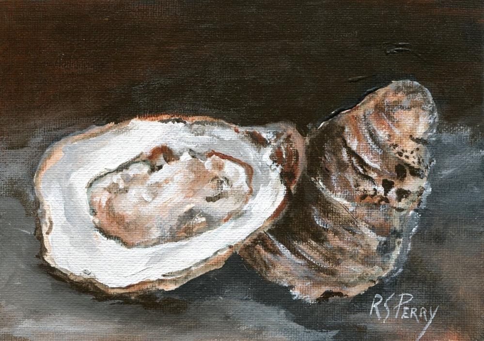 """Oysters"" original fine art by R. S. Perry"