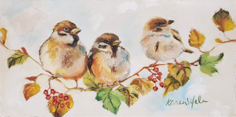 """""""Good Things Come In Threes"""" original fine art by Karen Weber"""