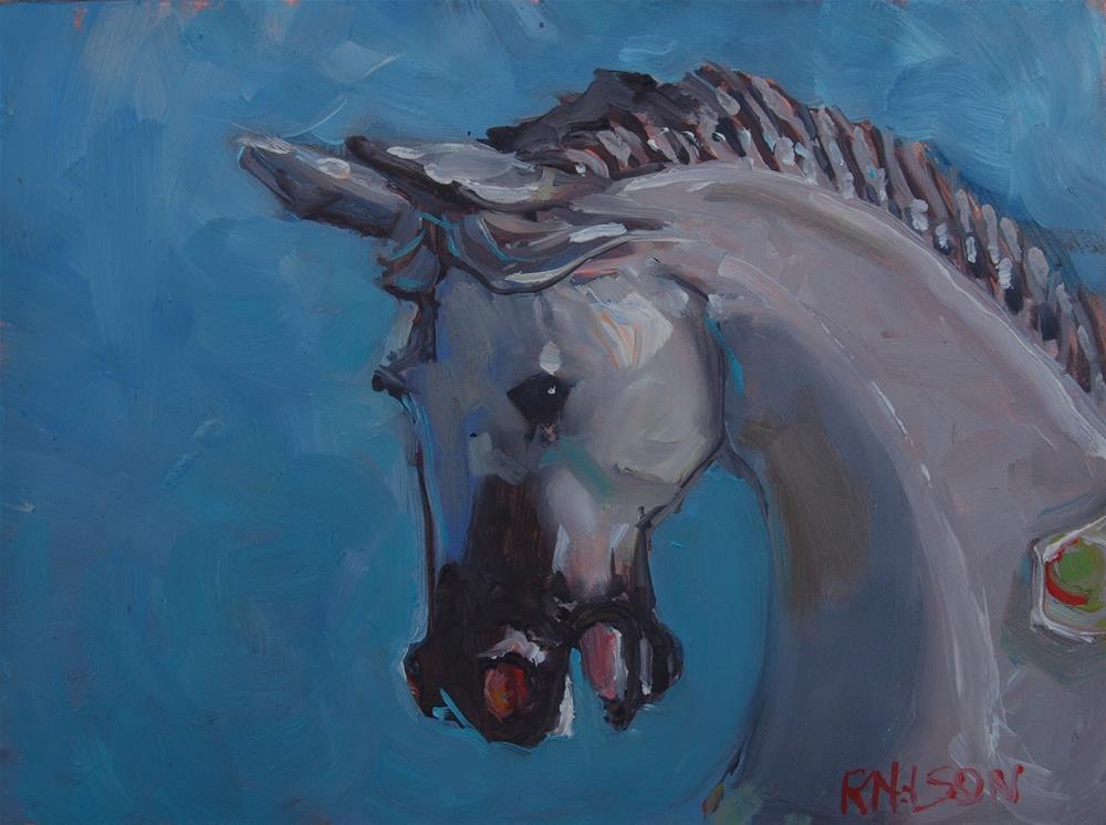 """Carousel Horse"" original fine art by Rick Nilson"