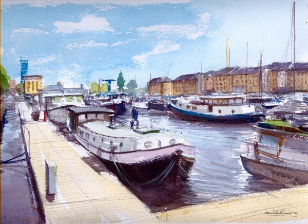 """South Marina Docks"" original fine art by Adebanji Alade"