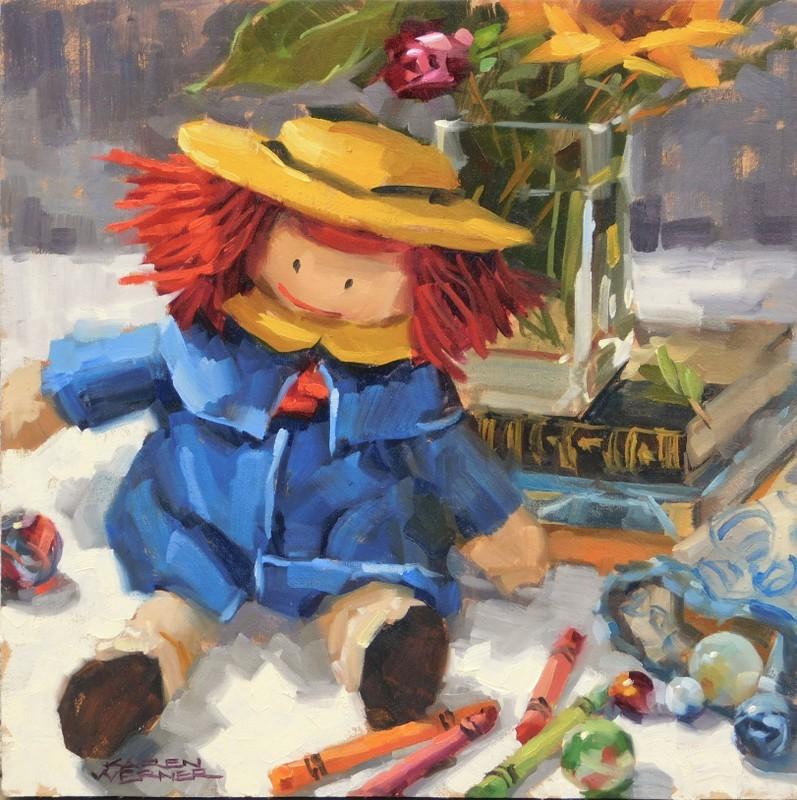 """Madeline"" original fine art by Karen Werner"