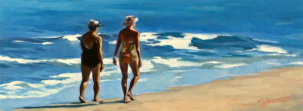 """""""Strolling Along"""" original fine art by Joanna Bingham"""