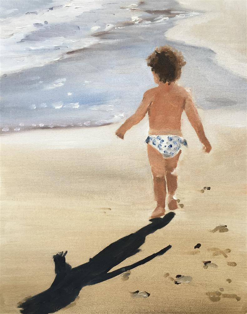 """Beach Baby"" original fine art by James Coates"