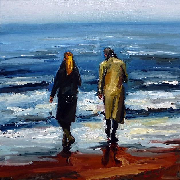 """At the sea"" original fine art by Jurij Frey"