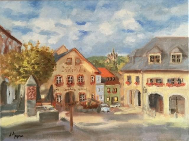 """""""Koenigstein, Germany"""" original fine art by Karen D'angeac Mihm"""