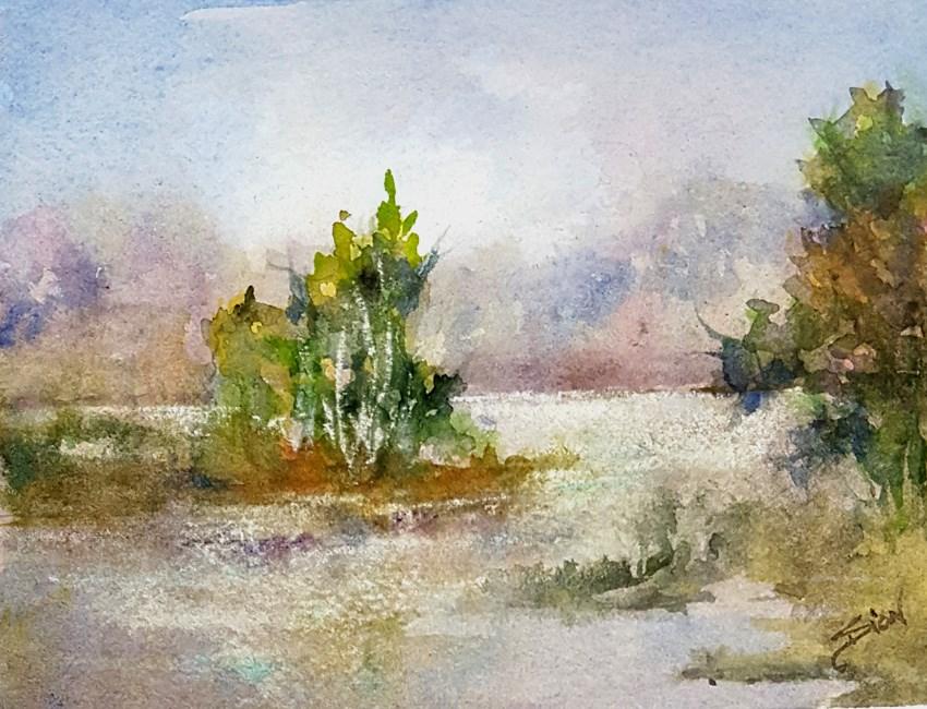 """As Summer Wanes"" original fine art by Sue Dion"