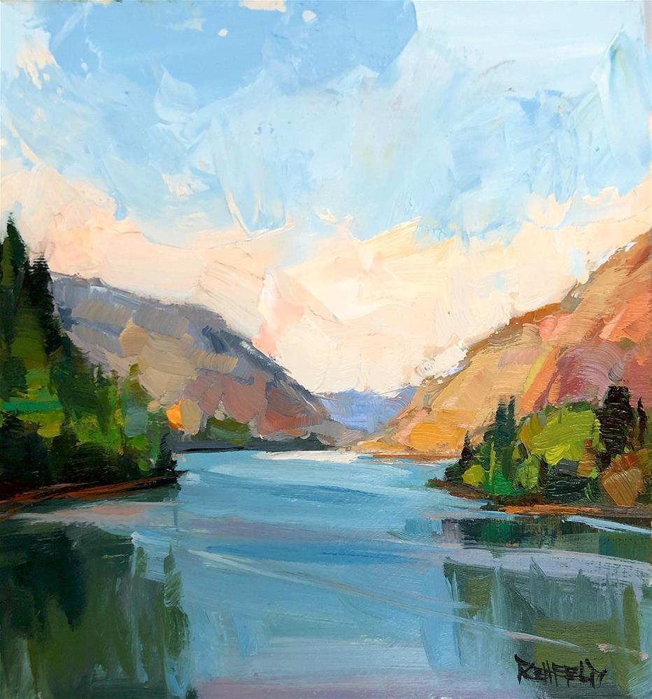 """The Gorge Summer"" original fine art by Cathleen Rehfeld"