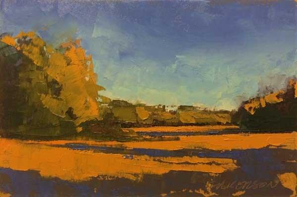 """Weston, Fall Fields"" original fine art by Mary Gilkerson"
