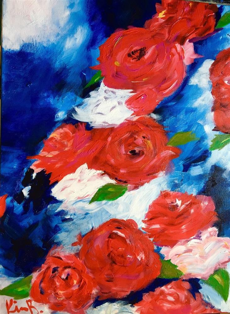 """Red, White, Blue"" original fine art by Kimberly Balentine"