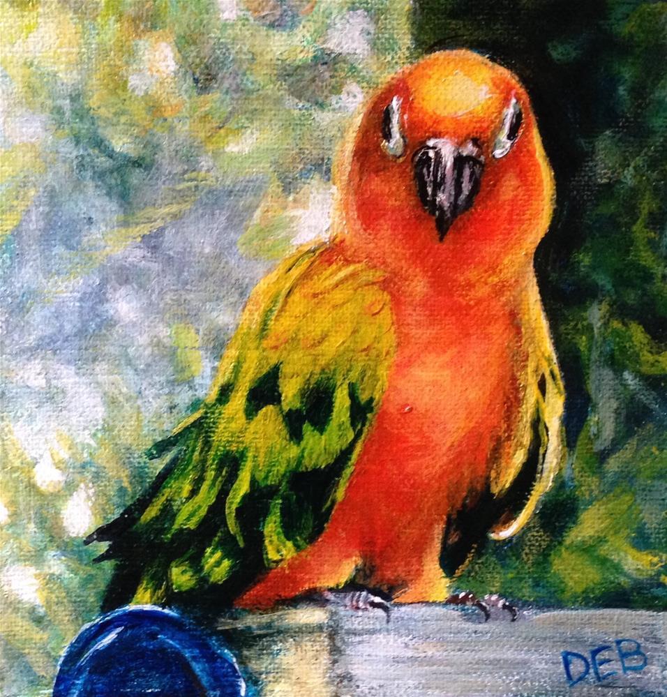 """""""Eyes on You"""" original fine art by Debbie Yacenda"""