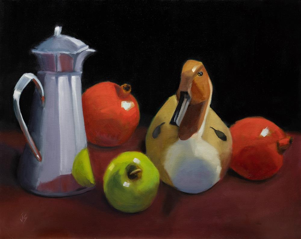 """""""Autumn's Lure (16x20)"""" original fine art by Johnna Schelling"""