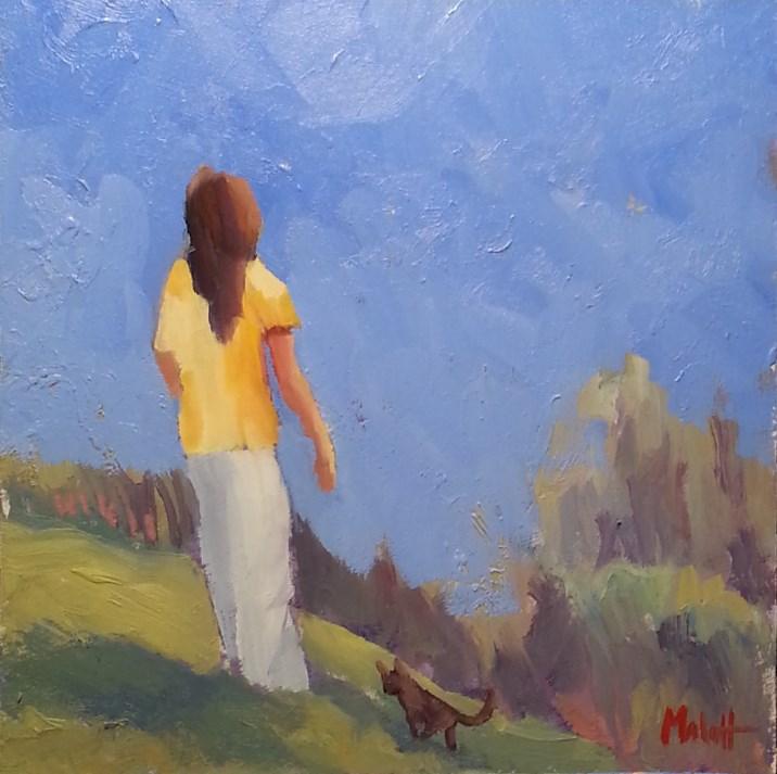 """""""Girl and Her Kitten Oil Painting"""" original fine art by Heidi Malott"""
