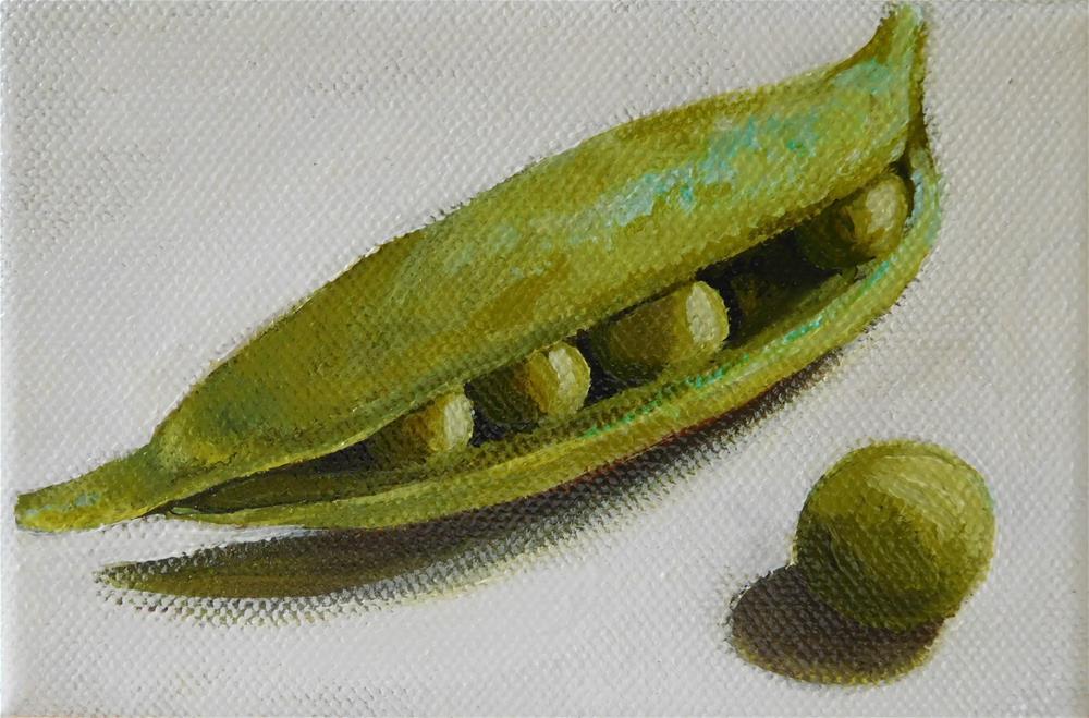 """""""Escape-pea"""" original fine art by Daryl West"""