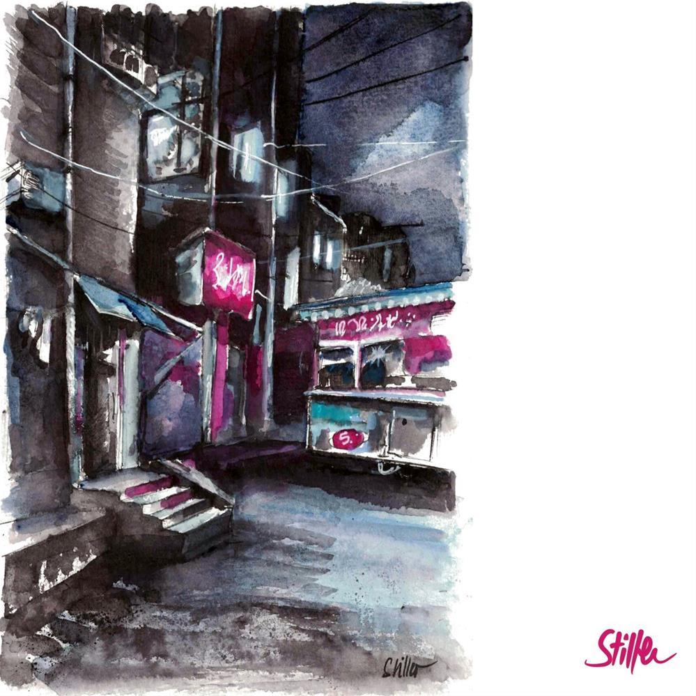 """""""3382 Dark November 22 - Chinatown"""" original fine art by Dietmar Stiller"""
