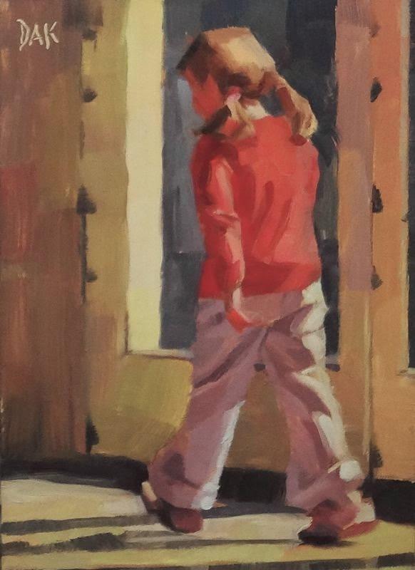 """""""Walk Of Light"""" original fine art by Deborah Ann Kirkeeide"""