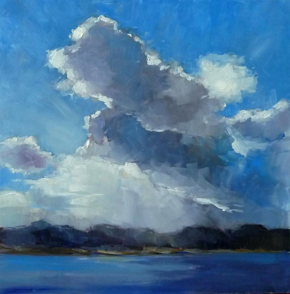 """""""Cloudscape"""" original fine art by Lisa Kyle"""