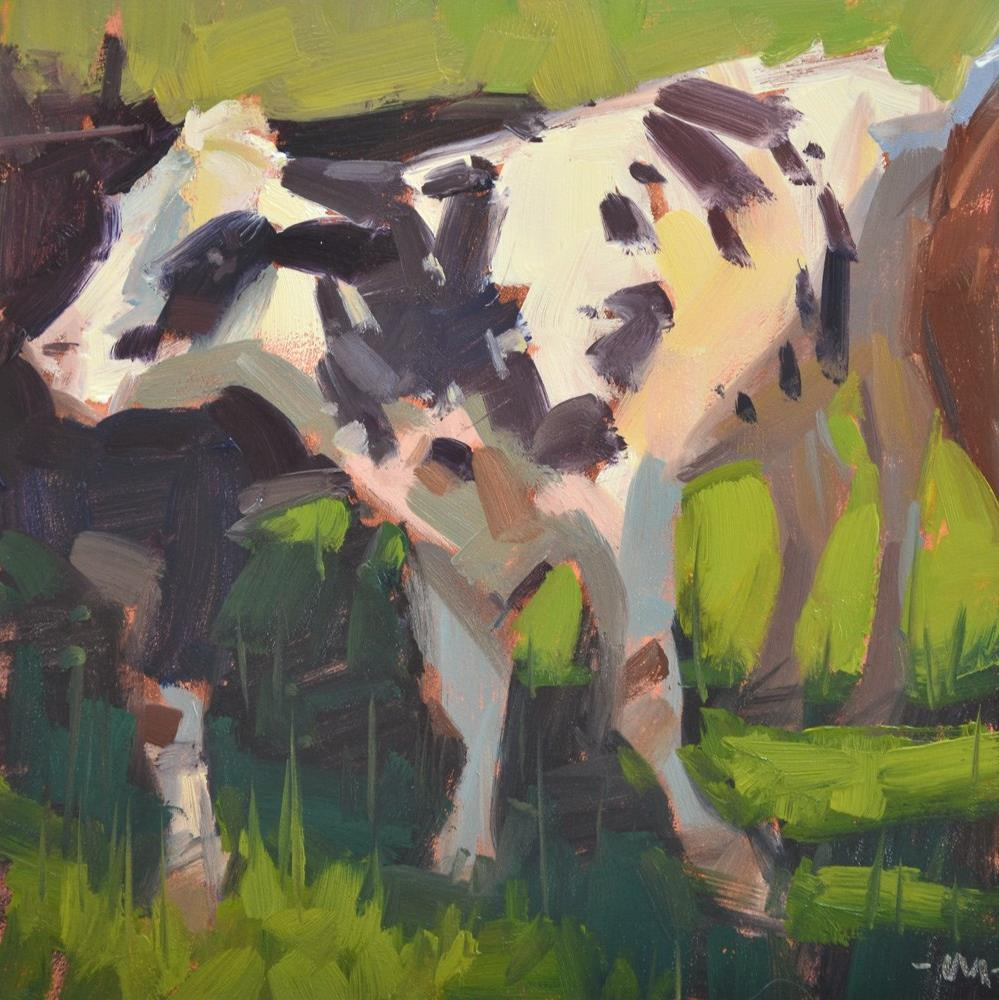 """Move Cow"" original fine art by Carol Marine"