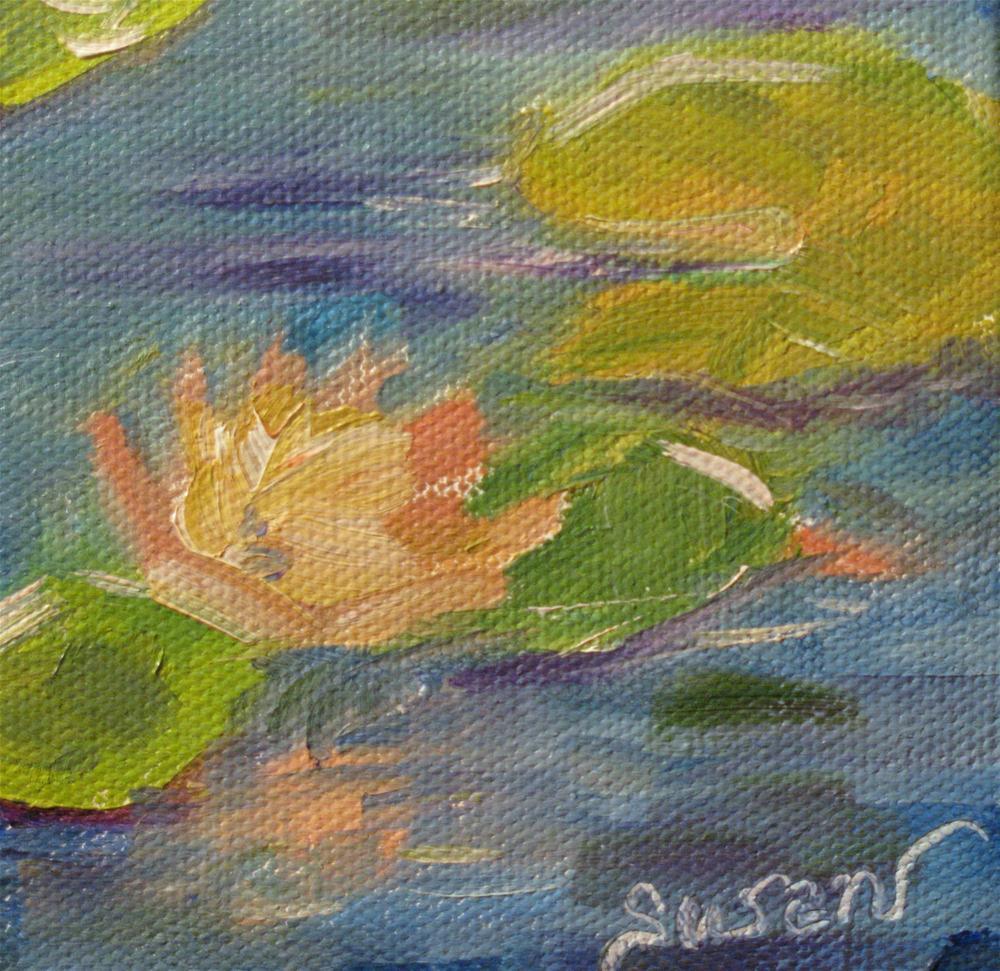 """Monet Water Lily Study"" original fine art by Susan Elizabeth Jones"