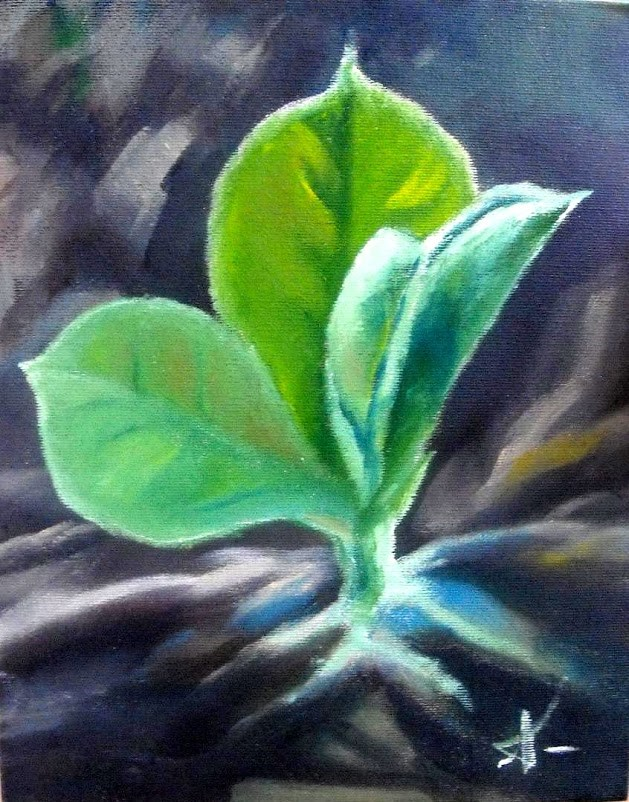 """Power of sprout"" original fine art by Konstantia Karletsa"