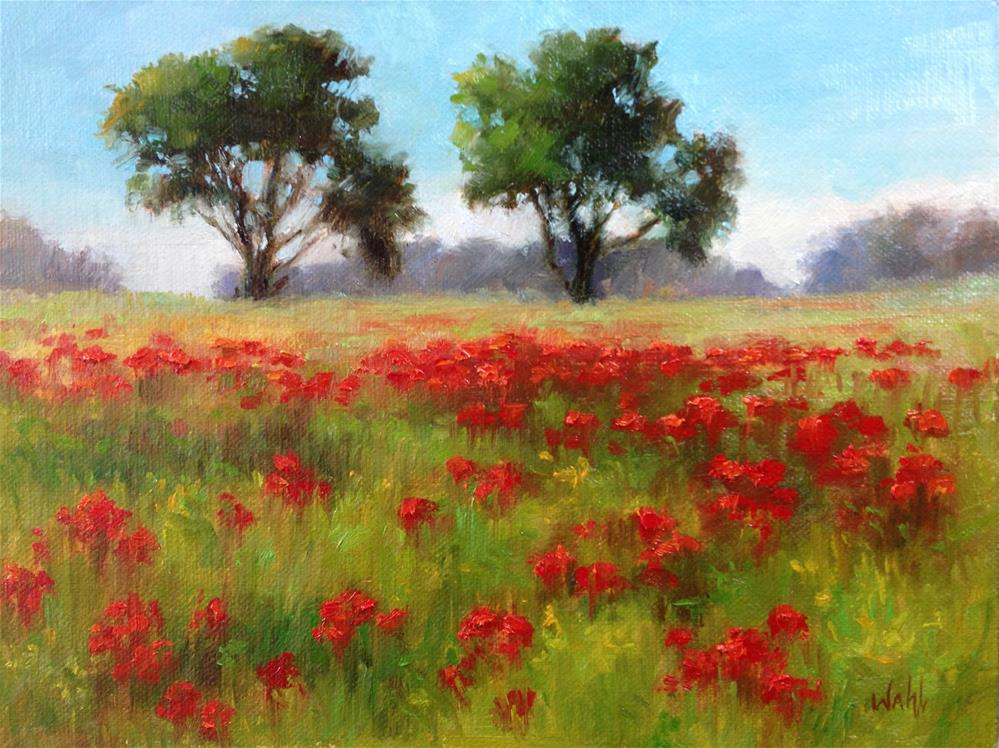 """Red Poppies"" original fine art by Nancy Wahl"